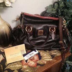 Dooney & Bourke black Florentine leather satchel